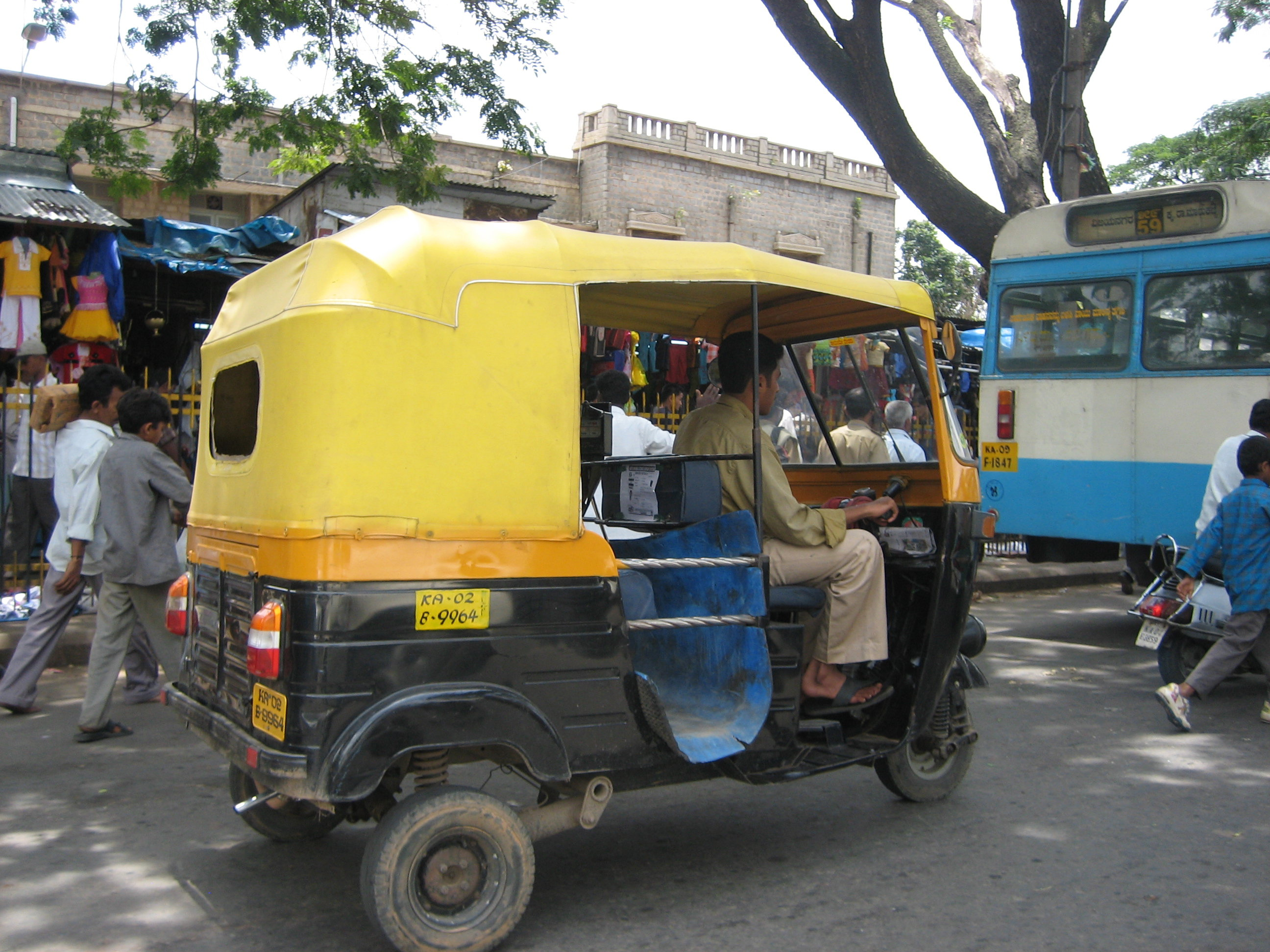 A typical rickshaw in India